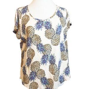 Lucky Brand Pink Scoop Cactus Short Sleeve T-Shirt